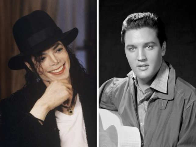 ​Michael Jackson (L) and Elvis Presley dominate the top 2 spots of Forbes Top-Earning Dead Celebrities Of 2019​ list.