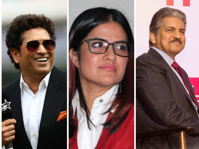 Sona Mohapatra (centre) urged Sachin Tendulkar (left) and Anand Mahindra (right) to take a stand for the victims.