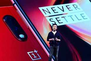 Bengaluru: Carl Pei, co-founder of OnePlus during the launch event of OnePlus 7 ...