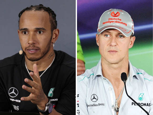 ​ Lewis Hamilton​ is in no hurry to break Michael ​Schumacher's record.​