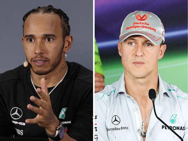  Lewis Hamilton is in no hurry to break Michael Schumacher's record.