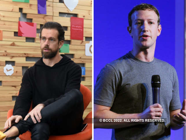 Twitter CEO Jack Dorsey (left) and Facebook founder and CEO Mark Zuckerberg (right) have always been at odds with each other.