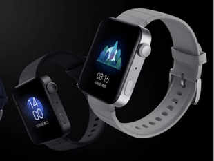 ​With a 1.78-inch AMOLED display, a 44mm dial and matte finish, the Mi Watch looks similar to Apple Watch.​