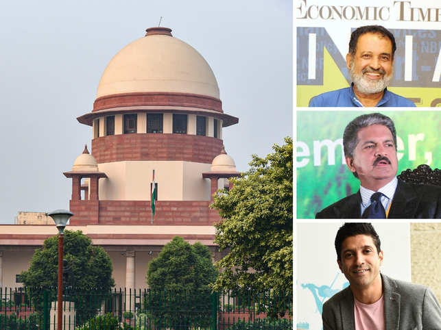Mohandas Pai (top right), Anand Mahindra (centre right) and Farhan Akhtar (bottom right) were the first ones to tweet about the #AyodhyaVerdict.