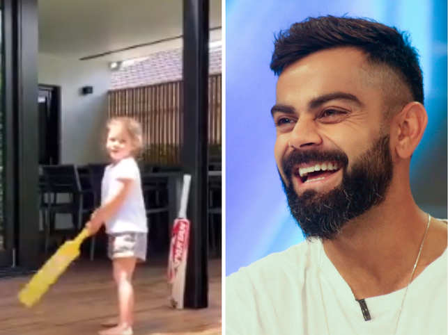 'I'm Virat Kohli', says Warner's daughter while playing cricket, wins over the Internet with her cuteness