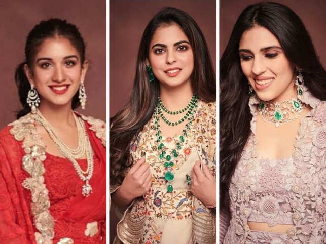 Mukesh Ambani hosts niece's pre-wedding bash; Isha, Shloka, Radhika dazzle in Anamika Khanna outfits
