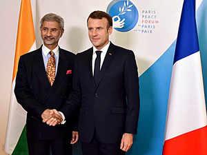 Jaishankar meets French President Macron in Paris, discusses strategic issues