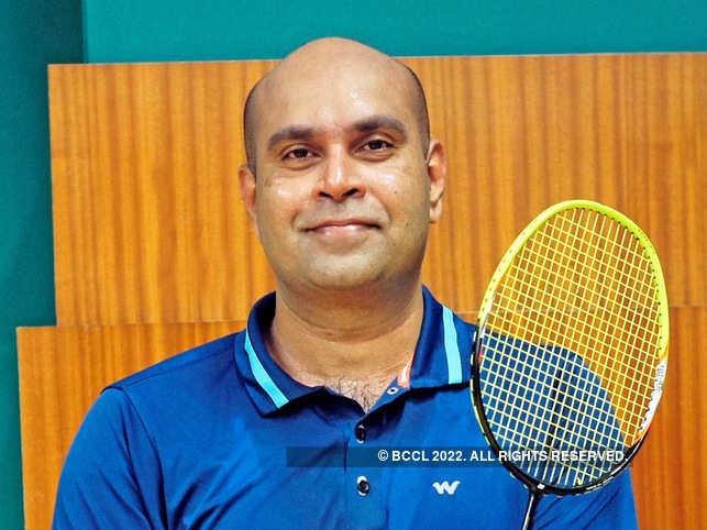 Daily dose of badminton and meditation helps Harshad Naik​ stay in shape.