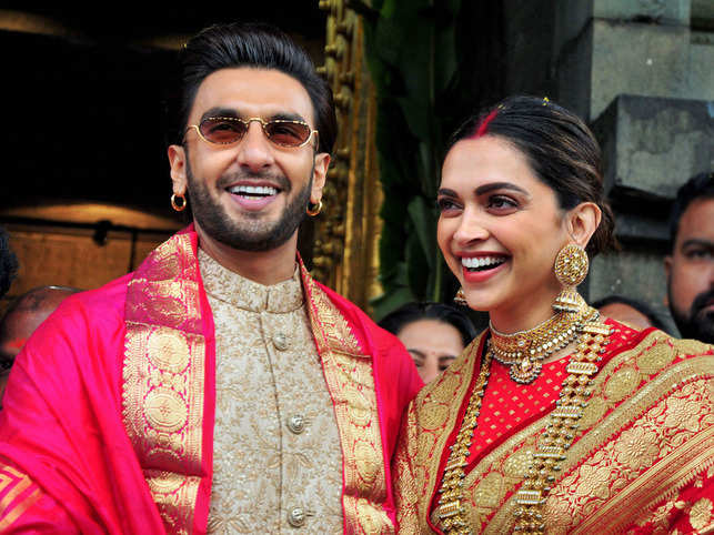 Ranveer Singh and Deepika Padukone​ ​opted for Sabyasachi outfits for the occasion. ​