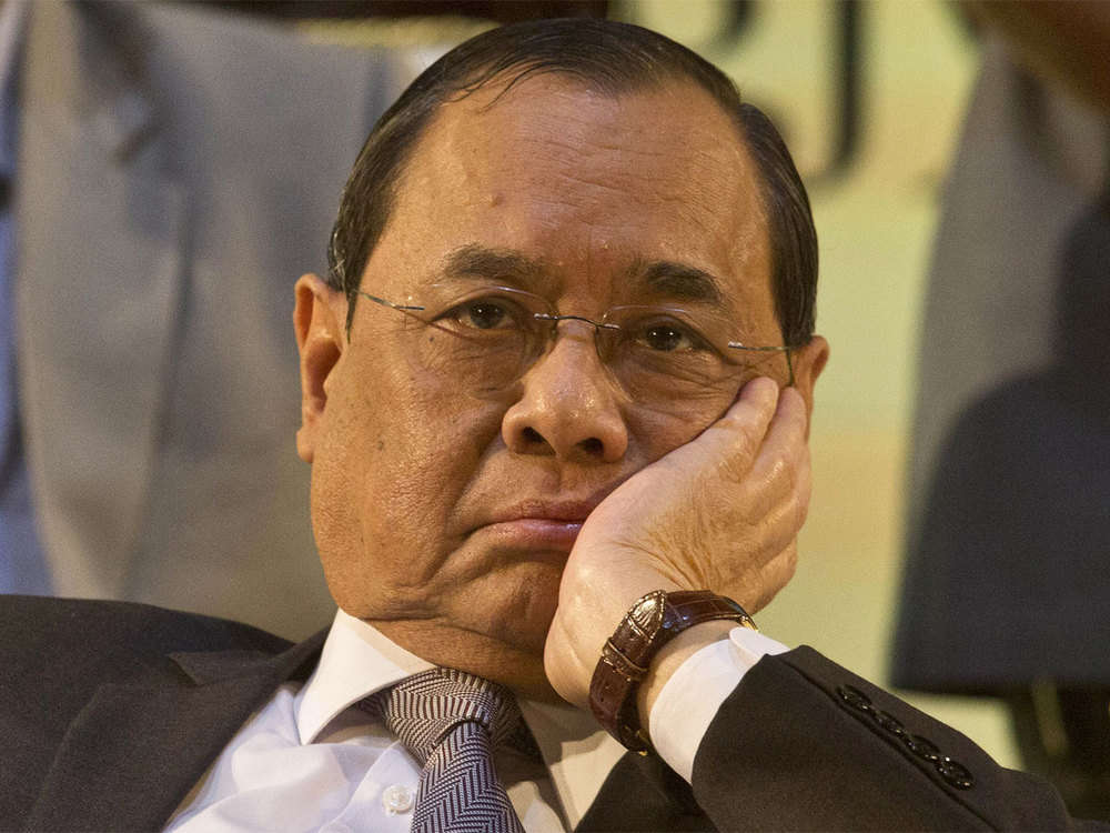 Chief Justice of India Ranjan Gogoi sits in bench for last time