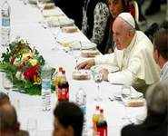 Guess who's coming for Pope's lunch?
