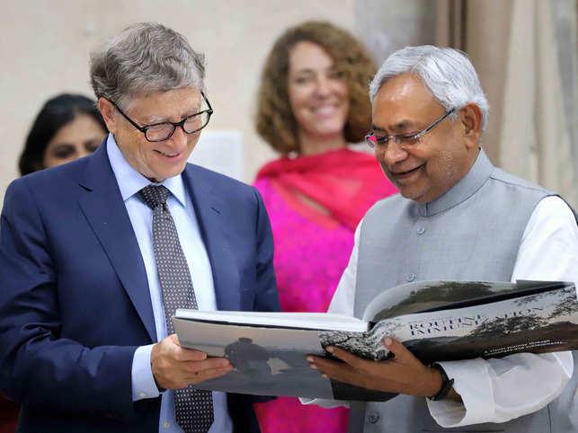 Microsoft Corp. co-founder Bill Gates met Bihar Chief Minister Nitish Kumar in Patna.