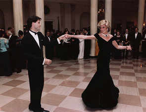 Princess Diana's iconic dress from dance with Travolta up on sale, estimated at $454,000