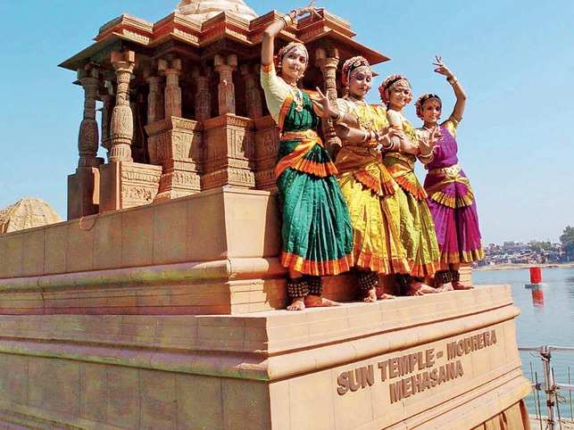 Let's Dance: Participants showcase their moves in front of a model of Modhera Sun Temple. (All pictures used are for representational purposes only)