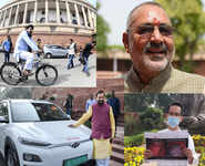 Netas make a green point in Parliament