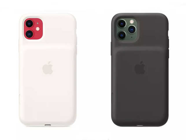 The new battery cases feature a larger camera cutout to accommodate the protrusion that houses the new cameras.