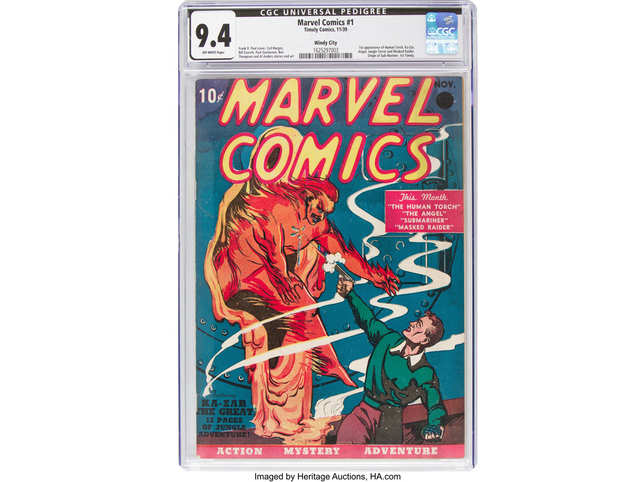 Heritage says the comic book was first purchased at a newsstand by a Uniontown, Pennsylvania, mail carrier who made a practice of buying the first issue of comic books and magazines.