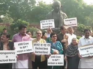 electoral bond protest