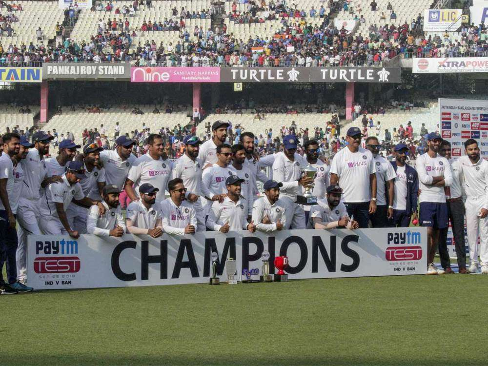 India crush Bangladesh in day-night Test to sweep series
