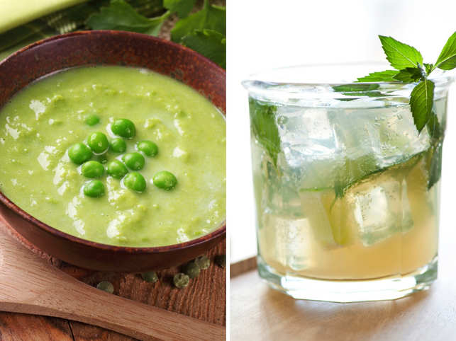 Thick soup of dried peas and a gin cocktail are inspired by London's fog.