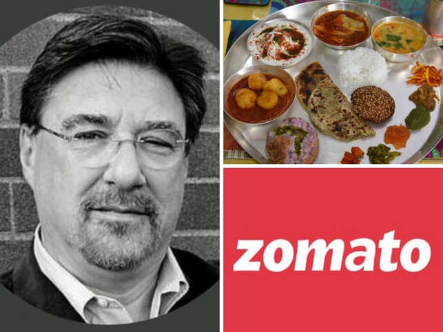 Tom Nichols (left) called Indian food 'terrible' in a tweet and food delivery giant Zomato gave a fitting reply.