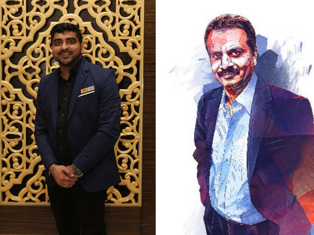 """I think even my start-up idea came in a coffee shop, so I owe it to him"", says 'Wow! Momo' founder Sagar Daryani (left) about CCD founder VG Siddhartha (right)."