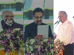 Watch: Balasaheb Thorat, Nitin Raut, Subhash Desai and Chhagan Bhujbal take oath of office