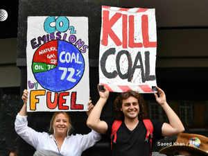 Australia Global warming protests AFP