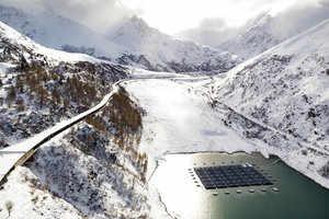 Switzerland Solar Panel Mountain Lake