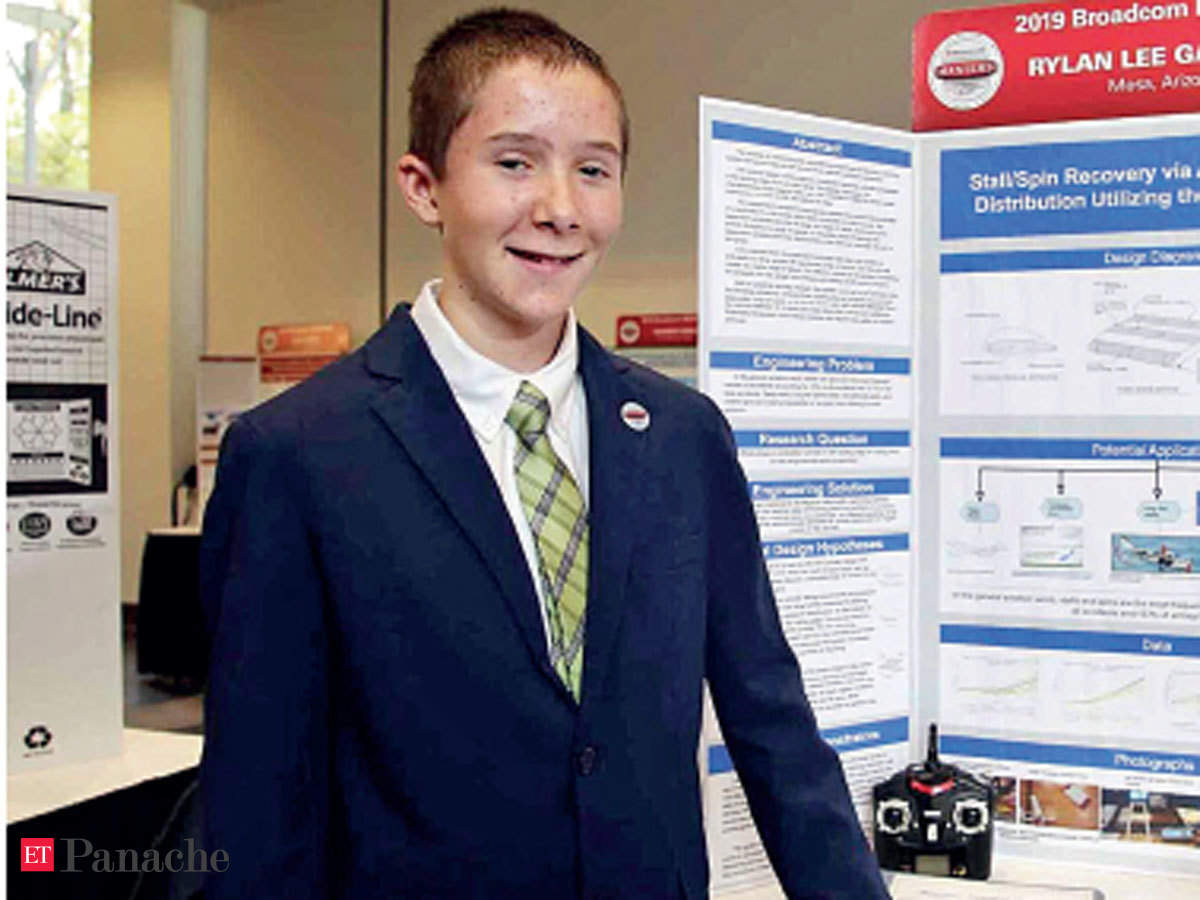Rylan Gardner Meet Rylan Gardner The 14 Year Old Who Showed How Spinning Cylinders Can Be Installed On Airplanes The Economic Times