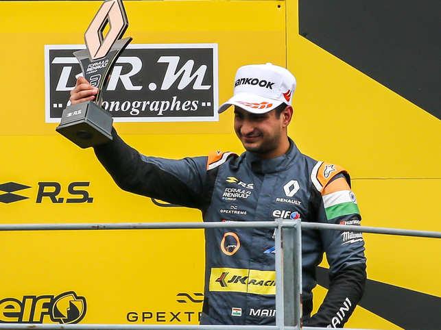 Indian racer Kush Maini idolises F1 champions Ayrton Senna and Kimi Raikkonen. (In pic: Kush Maini)