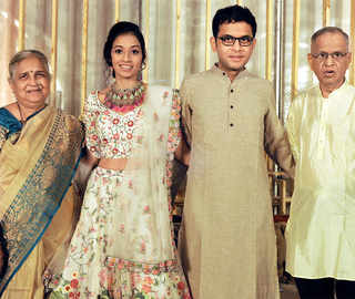 Rohan Murty, Aparna Krishnan tie the knot in an intimate ceremony; Bombay Jayashri performs at reception
