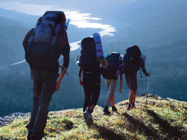 ​A sunrise or sunset hike is perfect to enjoy the rustic outdoors​.