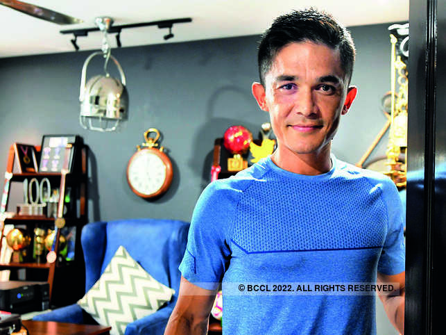 Sunil Chhetri likes to keep fewer things in his office.