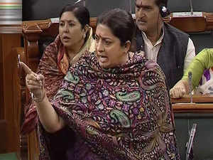 Smriti Irani slams opposition for politicising rape