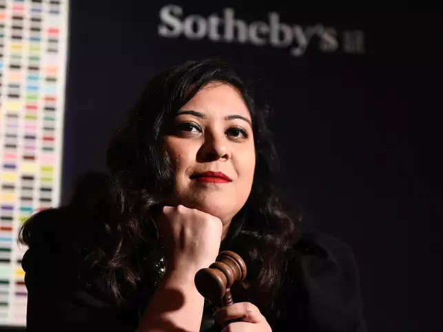 Ishrat Kanga, deputy director, specialist, head of Sale at Sotheby's London, has also donned the auctioneer's hat.