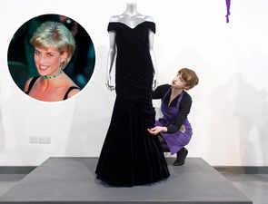 Princess Diana's velvet gown gets a cold shoulder at auction, fails to fetch reserve bid of £200K