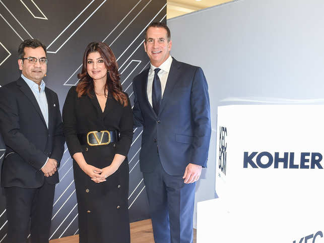 Kohler's sprawling new indoor space promises to be a one-stop solution for art and design; will also feature works by prominent global architects. Salil Sadanandan (president, Kohler K&B India, Middle East, and Sub Saharan Africa), brand ambassador Twinkle Khanna, and David Kohler, president & CEO, Kohler Co.