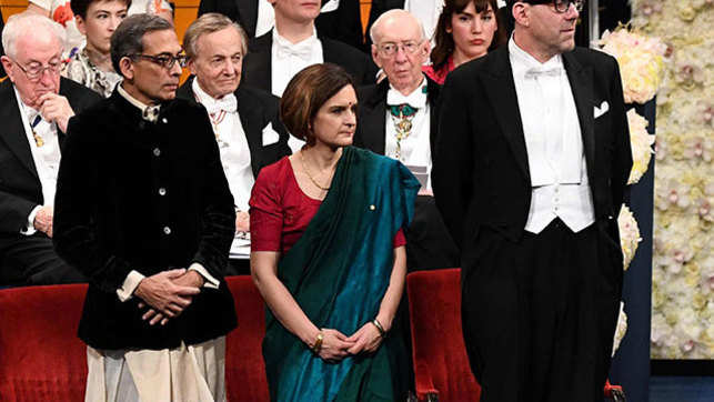 Abhijit Banerjee, Esther Duflo go traditional to receive Nobel Prize in Sweden