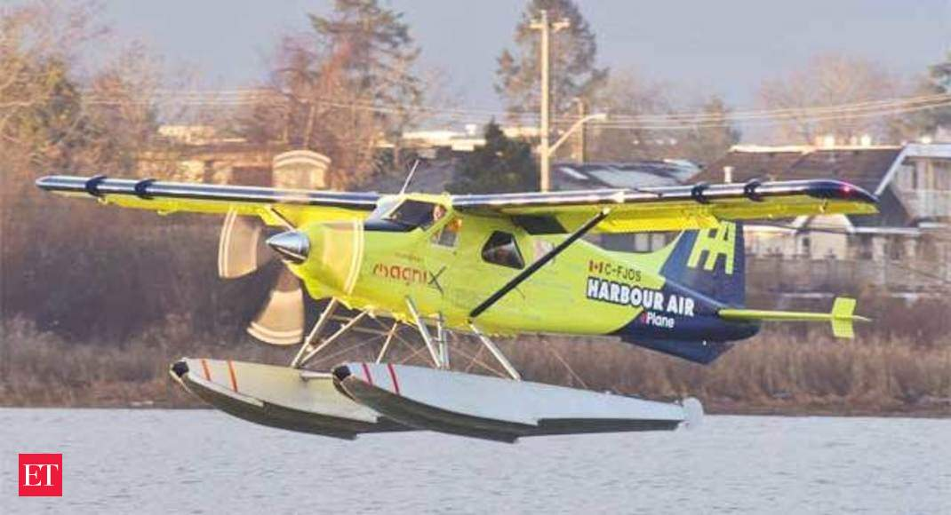 World's first electric seaplane takes flight in Canada - This is an all-electric airplane - Economic Times thumbnail