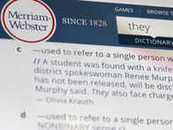 US dictionary Merriam-Webster names 'they' as word of the year
