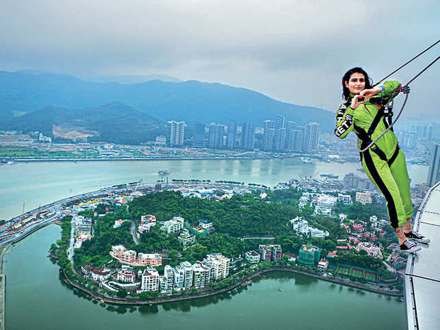 The glimpses of Fatima Sana Shaikh's journey are sure to give you travel goals and want you to experience Macao in your own style.