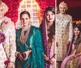Azharuddin's son Asad weds Sania Mirza's sister in a traditional ceremony; couple share 'Mr & Mrs' pictures