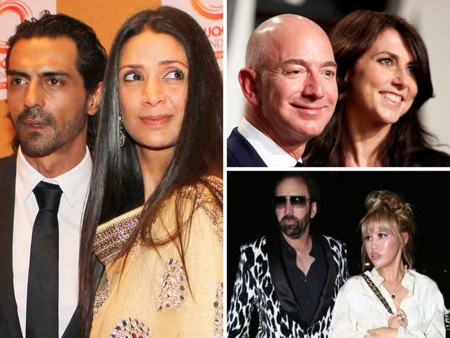 2019 was a year of heartbreak.  	 	   	Long-term unions, marriages and relationships came to an end, and broke our hearts.  	 	   	From Amazon boss Jeff Bezos's 25 years of togetherness, Dia Mirza's 11-year-long relationship to the four-day marriage of Nicolas Cage, this year saw celebrities headed for splitsville.  	 	   	Here's a look at all the separation news that made us realise how true love suffered in the year gone by .