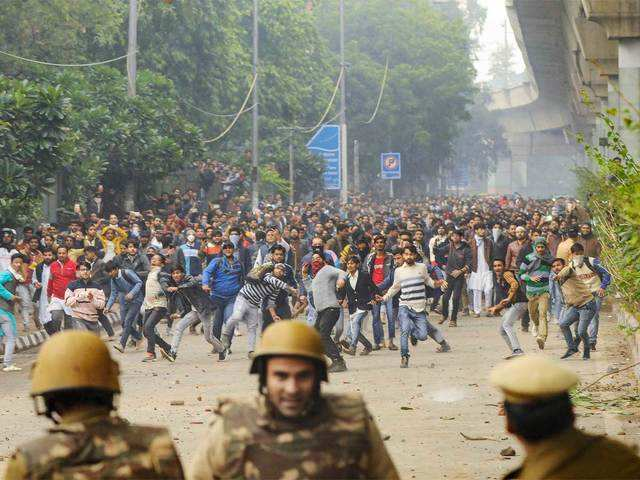 Image result for jamia millia islamia protest