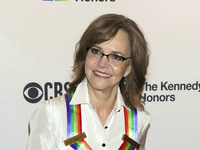 Sally Field addressed the crowd outside the US Capitol and called for immediate action to save the environment.