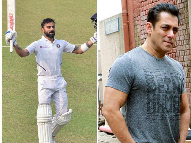 Virat Kohli (left) minted Rs 252.72 crores while Salman Khan (right) earned Rs 229.25 crores.