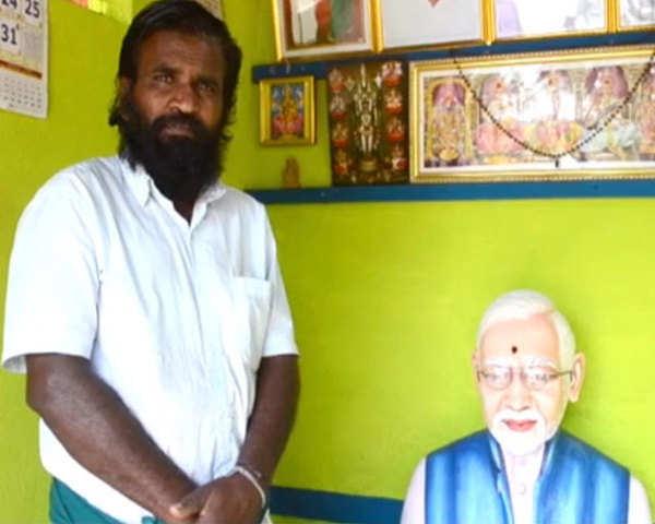 Modi temple: Tamil Nadu: Farmer builds PM Modi's temple in ...