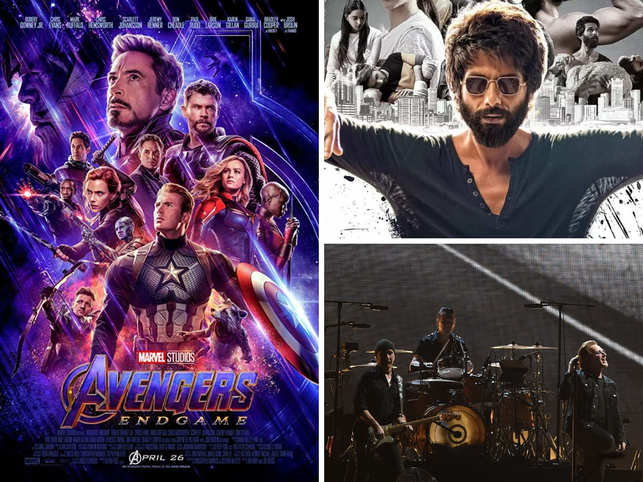 While 'Avengers' and 'Kabir Singh' ruled the box office, U2's India tour and 'The Grub Fest' saw a large number of footfalls.