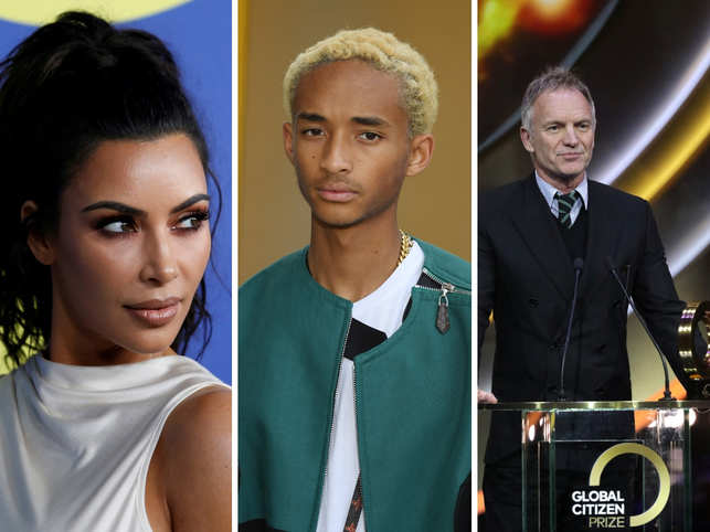 Kim, Jaden, Sting and several other stars took a stand on issues like prison reform, climate change and Amazon forest fires.